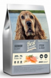 Best Breeder Dog Senior/Light Fish & Rice  7,5kg
