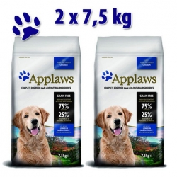 APPLAWS Grain Free Adult Lite All Breed Chicken 2x7,5kg