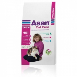 Asan Cat Pure Family Pack 45L