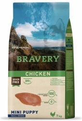 Bravery Grain Free Dog Puppy Mini Chicken 2kg