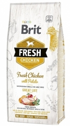 Brit Fresh Chicken with Potato Adult Dog Great Life 12kg