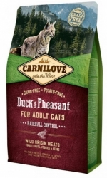 Carnilove Cat Adult Duck & Pheasant Hairball Control 2kg