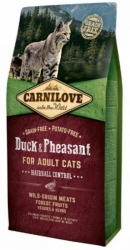 Carnilove Cat Adult Duck & Pheasant Hairball Control 6kg