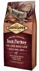 Carnilove Cat Adult Large Breed Duck & Turkey 6kg