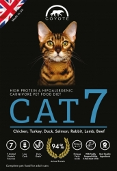 Coyote Carnivore Nutrition CAT 7 Grain Free  500g