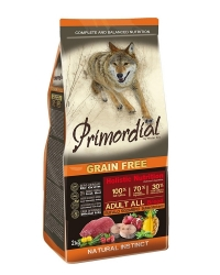 PRIMORDIAL Grain Free Dog Adult Buffalo and Mackerel  2x2kg