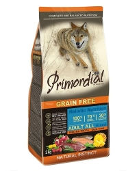 PRIMORDIAL Grain Free Dog Adult Duck and Trout  2x2kg
