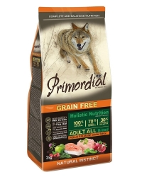 PRIMORDIAL Grain Free Dog Adult Chicken and Salmon 2x12kg