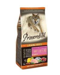 PRIMORDIAL Grain Free Puppy Chicken and Sea Fish 2x2kg