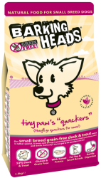 Barking Heads Grain Free Dog Tiny Paws Quackers  4kg