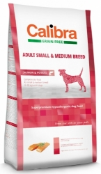 Calibra Grain Free Dog Adult Small&Medium Breed Salmon 12kg