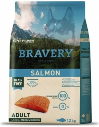Bravery Grain Free Dog Adult Large & Medium Salmon 12kg