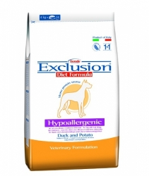 EXCLUSION DIET Hypoallergenic Dog Duck and Potato 12,5kg