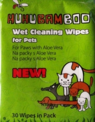 HuHuBamboo Wet Cleaning Wipes for Paws 30ks