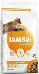 IAMS for Vitality Cat Adult Hairball Chicken 2kg