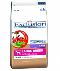 EXCLUSION Mediterraneo Dog Adult Large Breed Lamb 12,5kg
