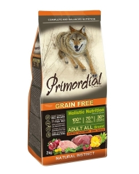 PRIMORDIAL Grain Free Dog Adult Deer and Turkey  2kg