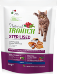 Trainer Natural Cat Adult Sterilised with Salmon & Pea Fibre 300g