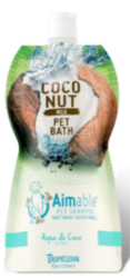 TropiClean Aimable Pet Shampoo Aqua de Coco 355ml
