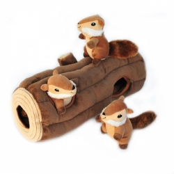 ZippyPaws Burrow Log with 3 Chipmunks 35,5cm